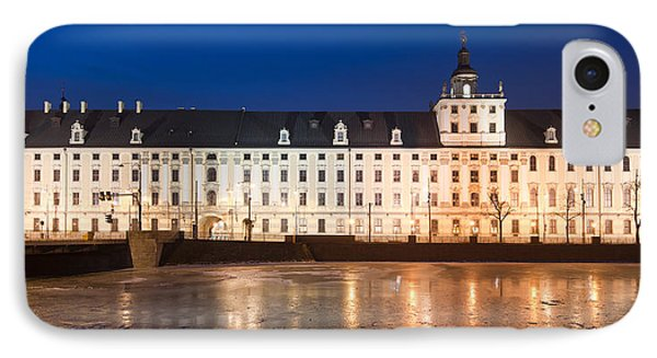 University Of Wroclaw At Night IPhone Case