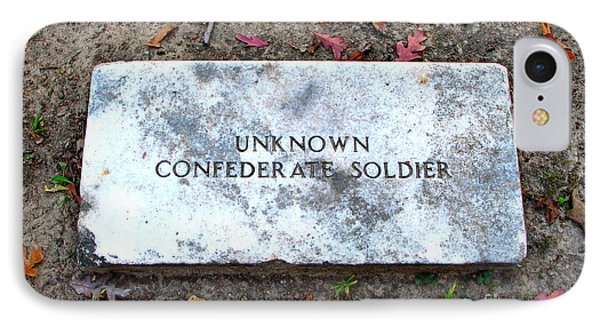 Unknown Confederate Soldier Phone Case by Renee Trenholm