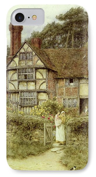 Unstead Farm Godalming IPhone Case by Helen Allingham