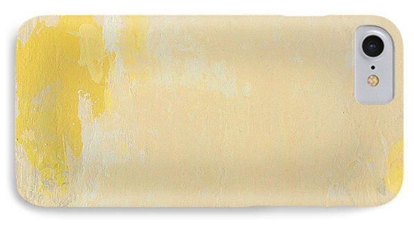 Untitled Abstract - Bisque With Yellow IPhone Case by Kathleen Grace