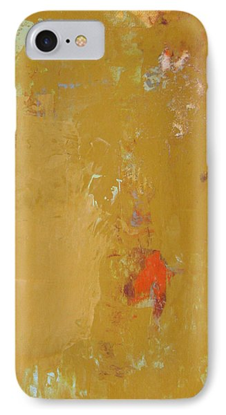 Untitled Abstract - Ochre Cinnabar IPhone Case by Kathleen Grace