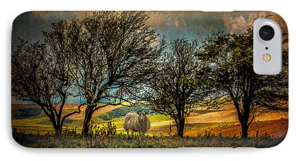 IPhone Case featuring the photograph Up On The Sussex Downs In Autumn by Chris Lord