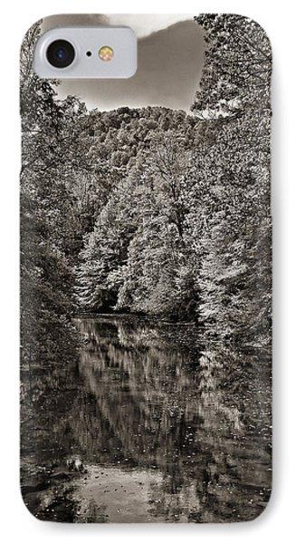Up The Lazy River Monochrome Phone Case by Steve Harrington
