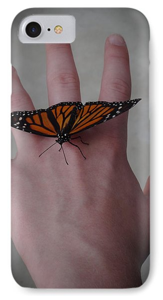 IPhone Case featuring the photograph Upon My Hand by Julia Wilcox