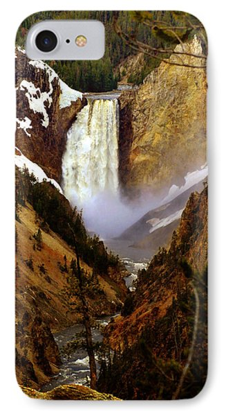 Upper Yellowstone Falls Phone Case by Ellen Heaverlo