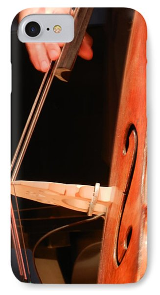 Upright Bass 1 IPhone Case by Anita Burgermeister