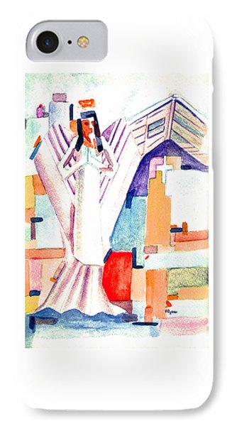 IPhone Case featuring the painting Urban Angel Of Light by Paula Ayers