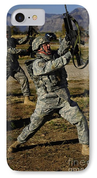 U.s. Air Force Soldier Practices Phone Case by Stocktrek Images