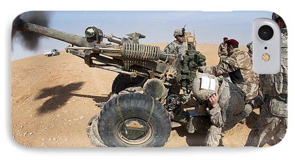 U.s. And Iraqi Artillerymen Train Phone Case by Stocktrek Images