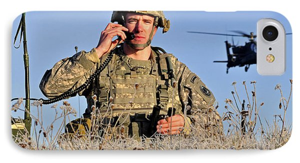 U.s. Army Captain Directs An Ah-64 Phone Case by Stocktrek Images