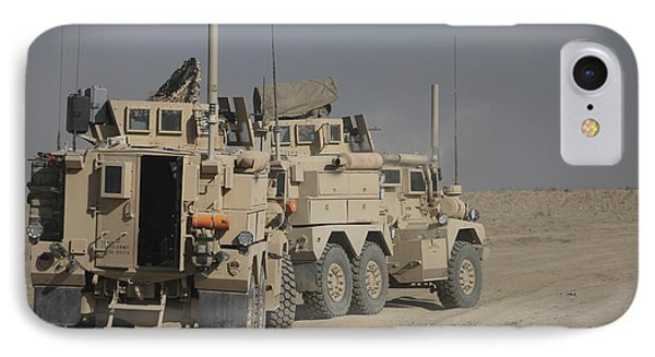 U.s. Army Cougar Mrap Vehicles Phone Case by Terry Moore