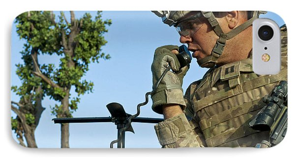 U.s. Army Soldier Calls For Indirect Phone Case by Stocktrek Images