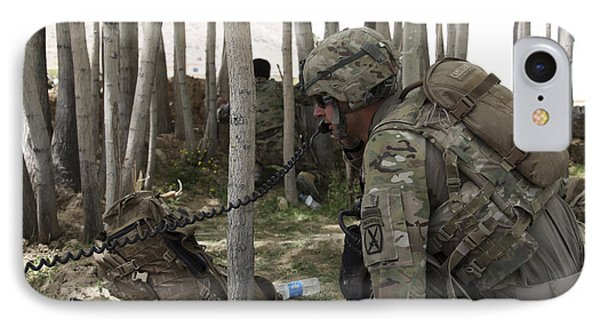 U.s. Army Soldier Communicates Possible Phone Case by Stocktrek Images