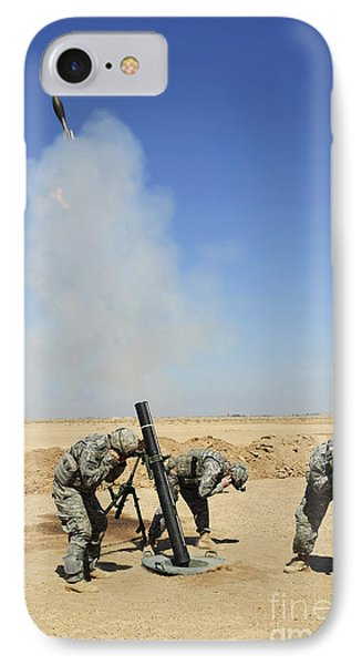 U.s. Army Soldiers Firing An M120 120mm Phone Case by Stocktrek Images