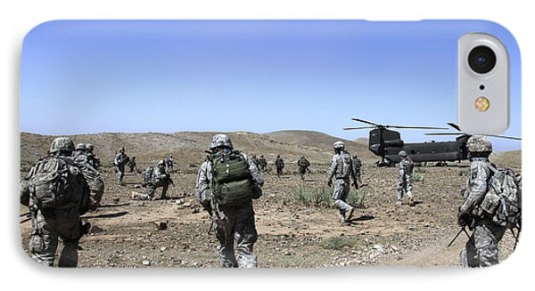 U.s. Army Soldiers Run Back Phone Case by Stocktrek Images