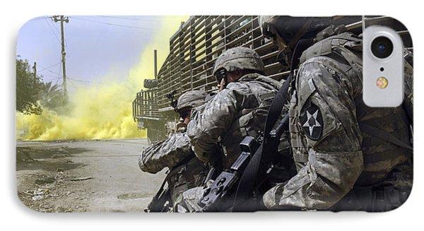 U.s. Army Soldiers Using Smoke Grenades Phone Case by Stocktrek Images