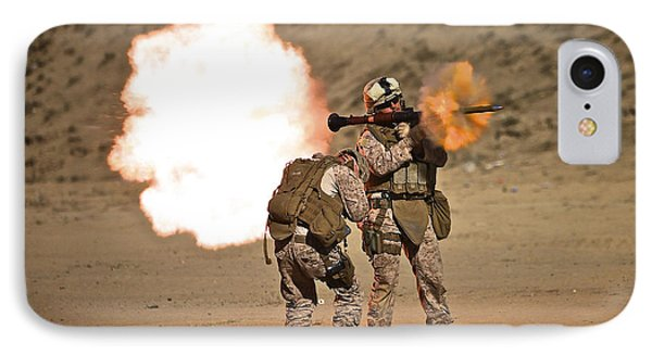 U.s. Marine Fires A Rpg-7 Grenade Phone Case by Terry Moore