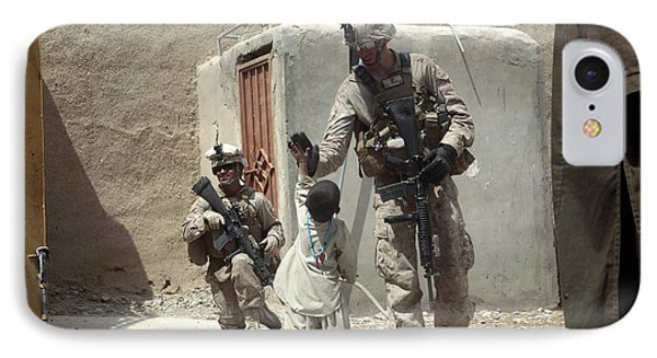 U.s. Marine Gives An Afghan Child Phone Case by Stocktrek Images