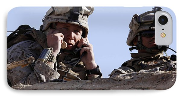 U.s. Marine Gives Directions To Units Phone Case by Stocktrek Images