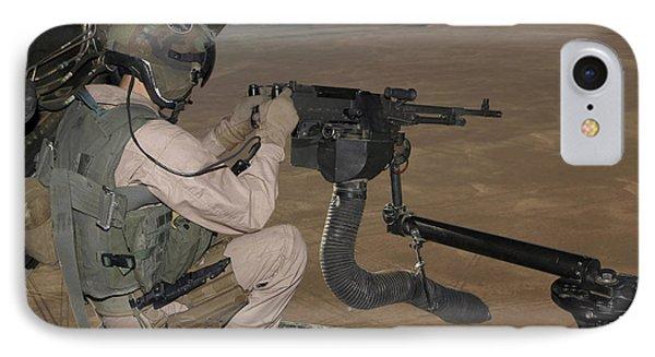U.s. Marine Test Firing An M240 Heavy Phone Case by Stocktrek Images