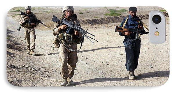 U.s. Marines And Afghan National Police Phone Case by Stocktrek Images