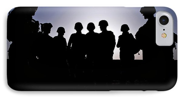 U.s. Marines And Civilian Contractors Phone Case by Stocktrek Images