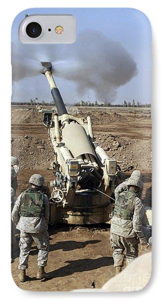 U.s. Marines Engage Enemy Targets IPhone Case