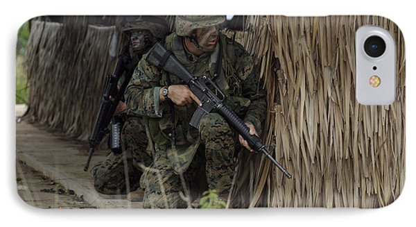 U.s. Marines Prepare To Enter A House Phone Case by Stocktrek Images