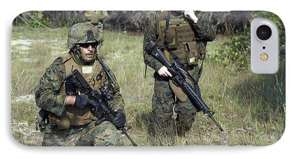 U.s. Marines Secure A Perimeter Phone Case by Stocktrek Images