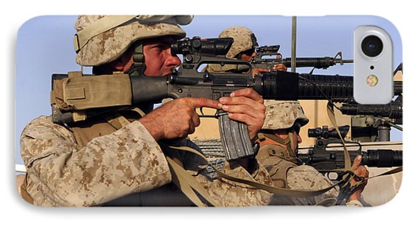 U.s. Marines Sighting Phone Case by Stocktrek Images