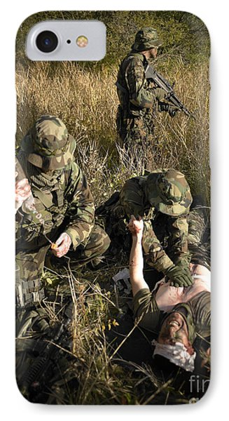 U.s. Navy Seals Give First Aid Phone Case by Tom Weber