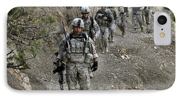 U.s. Soldiers And Afghan Border Phone Case by Stocktrek Images
