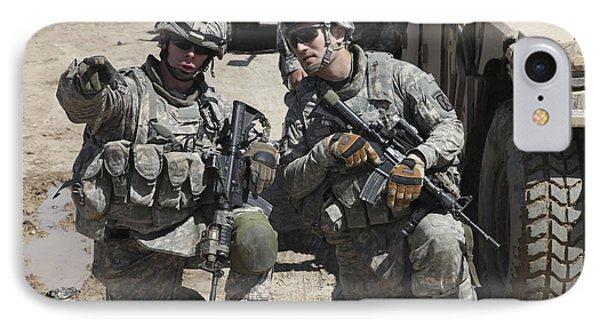 U.s. Soldiers Coordinate Security Phone Case by Stocktrek Images