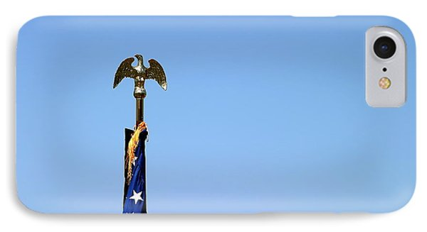 Usa Flag Top IPhone Case by Henrik Lehnerer