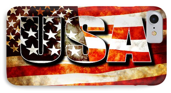 Usa Old Glory Flag Phone Case by Phill Petrovic