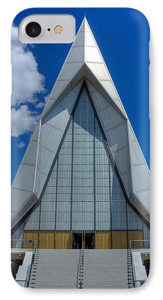 Usaf Academy Chapel - 4 Phone Case by David Bearden