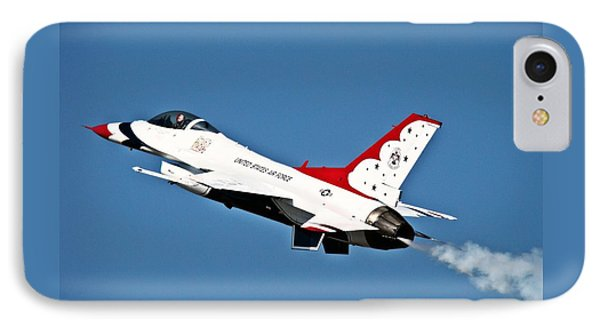 IPhone Case featuring the photograph Usaf Thunderbird F-16 by Nick Kloepping