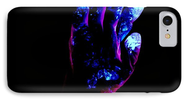 Used Surgical Glove, Negative Image Phone Case by Kevin Curtis