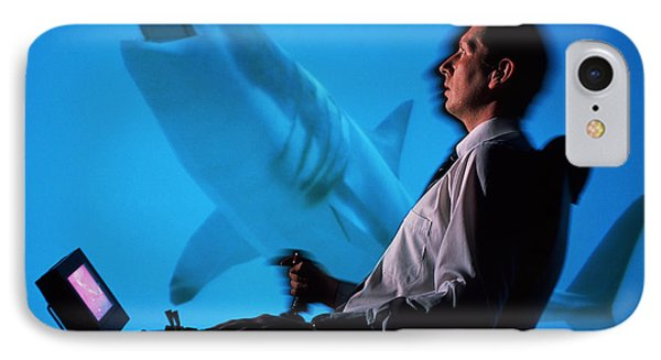 User In Reality Centre Simulator (underwater Set) Phone Case by David Parker