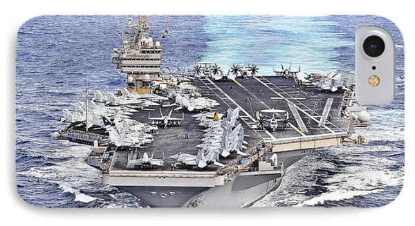 Uss Abraham Lincoln Transits Phone Case by Stocktrek Images