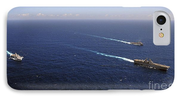 Uss Boxer, Uss Comstock And Uss Green Phone Case by Stocktrek Images