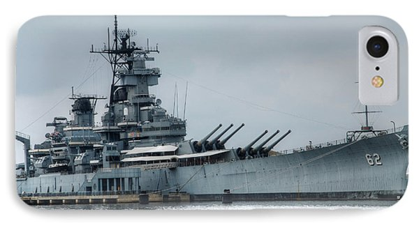 Uss New Jersey IPhone Case by Jennifer Ancker