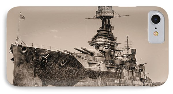 Uss Texas Bw IPhone Case by JC Findley