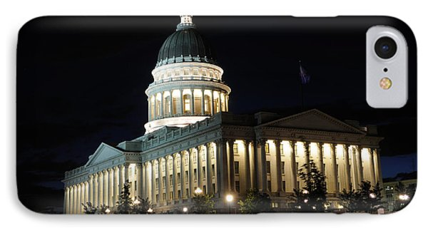 Utah Capitol At Night Phone Case by Gary Whitton