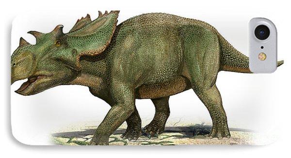 Utahceratops Gettyi, A Prehistoric Era Phone Case by Sergey Krasovskiy