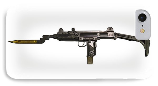 Uzi 9mm Submachine Gun With Attached Phone Case by Andrew Chittock