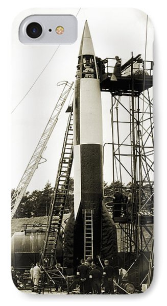 V-2 Prototype Rocket Prior To Launch IPhone Case