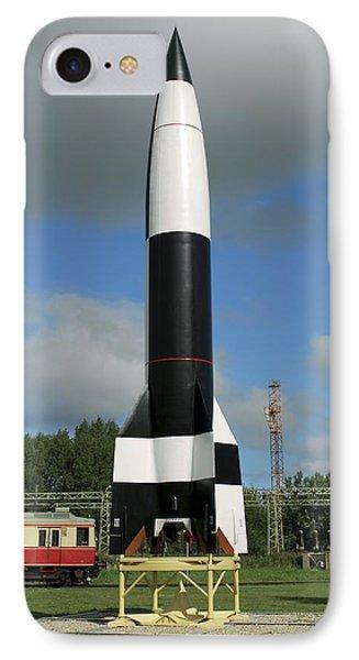 V-2 Rocket Display, Peenemunde Phone Case by Detlev Van Ravenswaay