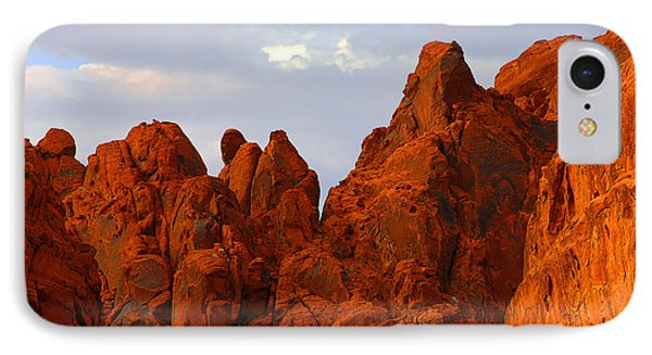 Valley Of Fire - The Landscape Burns Phone Case by Christine Till