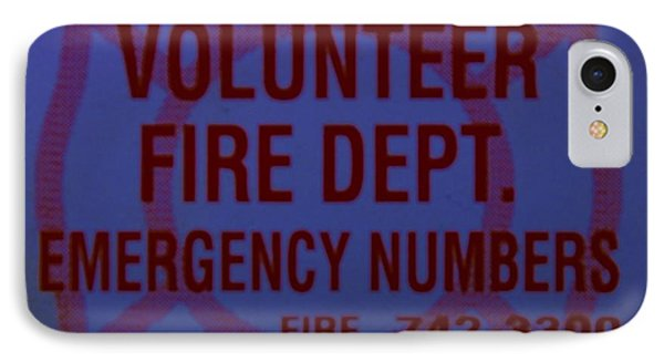 Valley Stream Fire Department In Blue Phone Case by Rob Hans